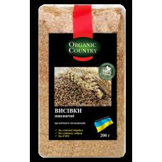 Отруби пшеничные органические, Украина, 200 г, ORGANIC COUNTRY