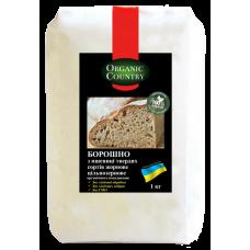 Мука из пшеницы твердых сортов цельнозерновая жерновая органическая, Украина, 1 кг, ORGANIC COUNTRY