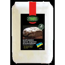 Мука ржаная цельнозерновая жерновая органическая, Украина, 1 кг, ORGANIC COUNTRY