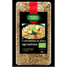 Чечевица зеленая органическая, Украина, 400 г, ORGANIC COUNTRY