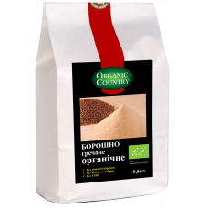 Мука гречневая цельнозерновая жерновая органическая, Украина, 0,5 кг, ORGANIC COUNTRY