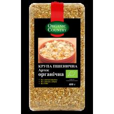 Крупа пшеничная Артек из яровой пшеницы твердых сортов органическая, Украина, 400 г, ORGANIC COUNTRY