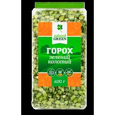 Горох зеленый колотый, 400 г, NATURAL GREEN