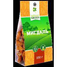 Миндаль, 100 г, NATURAL GREEN
