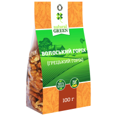 Грецкий орех, 100 г, NATURAL GREEN
