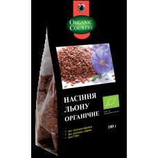 Семена льна органические, Украина, 100 г, ORGANIC COUNTRY