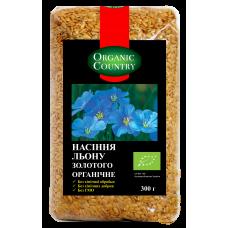 Семена льна золотого органические, Украина, 300 г, ORGANIC COUNTRY