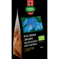 Семена льна золотого органические, Украина, 100 г, ORGANIC COUNTRY
