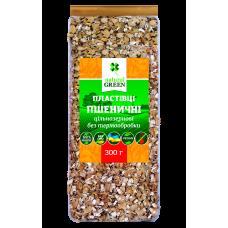 Хлопья пшеничные цельнозерновые без термообработки, 300 г, NATURAL GREEN