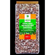 Хлопья чернозерной пшеницы цельнозерновые без термообработки, 300 г, NATURAL GREEN